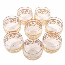The Hour, Vintage Culver Gold Chantilly Roly Poly Glasses