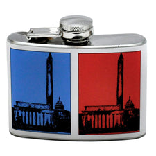 Red White & Blue Washington D.C. Memorials Flask, The Hour Shop