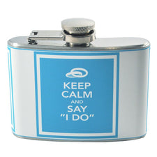 Keep Calm & Say I Do Fast Snail Wedding Flask | The Hour