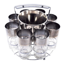The Hour Shop, Vintage Mercury Ice Bucket Glasses Set