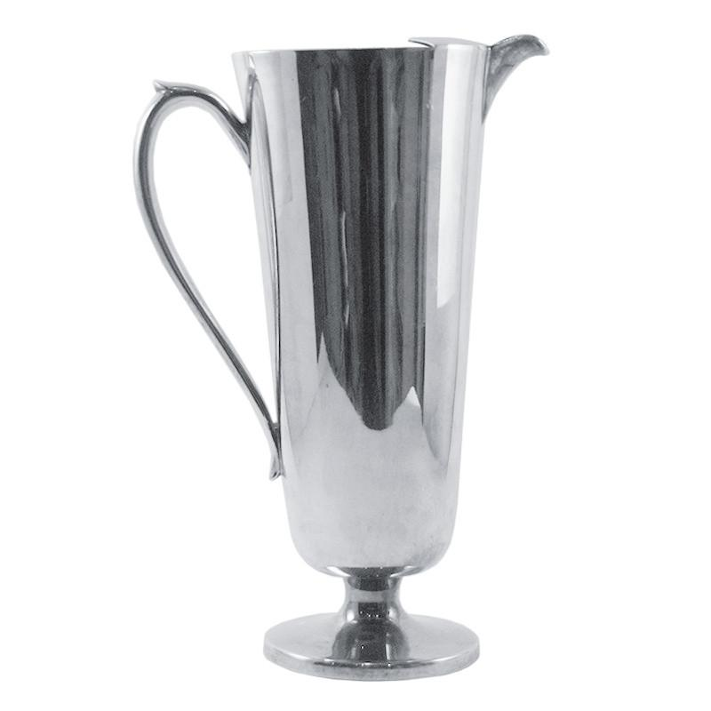 Vintage Crescent Silver Plate Cocktail Pitcher, The Hour