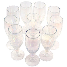 Draping Iridescent Cocktail Glasses