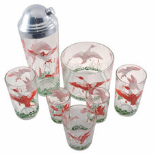Vintage Hazel Atlas Geese Cocktail Shaker Set, The Hour Shop