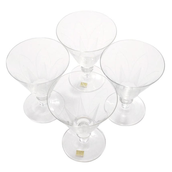 Vintage Cut Crystal German Wine Glasses, The Hour