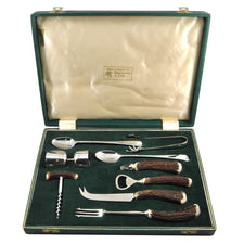 Abercrombie & Fitch 9 Pc. Stag Handle Bar Tool Set | The Hour