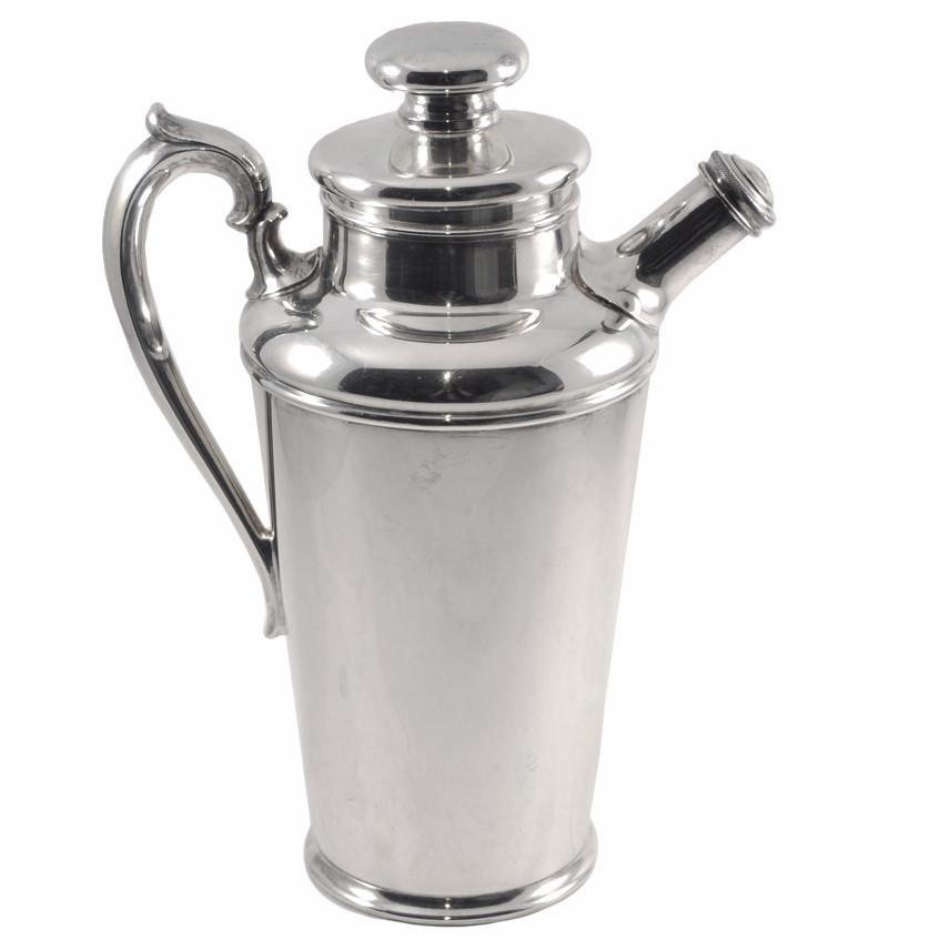 Rogers Bros. 1930s Silver Plate Cocktail Shaker, The Hour