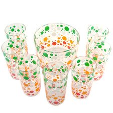 Multi Color Polka Dot Ice Bucket Set | The Hour Shop