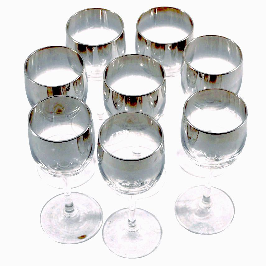 Mercury Fade Liqueur Glasses | The Hour Shop Vintage Glass
