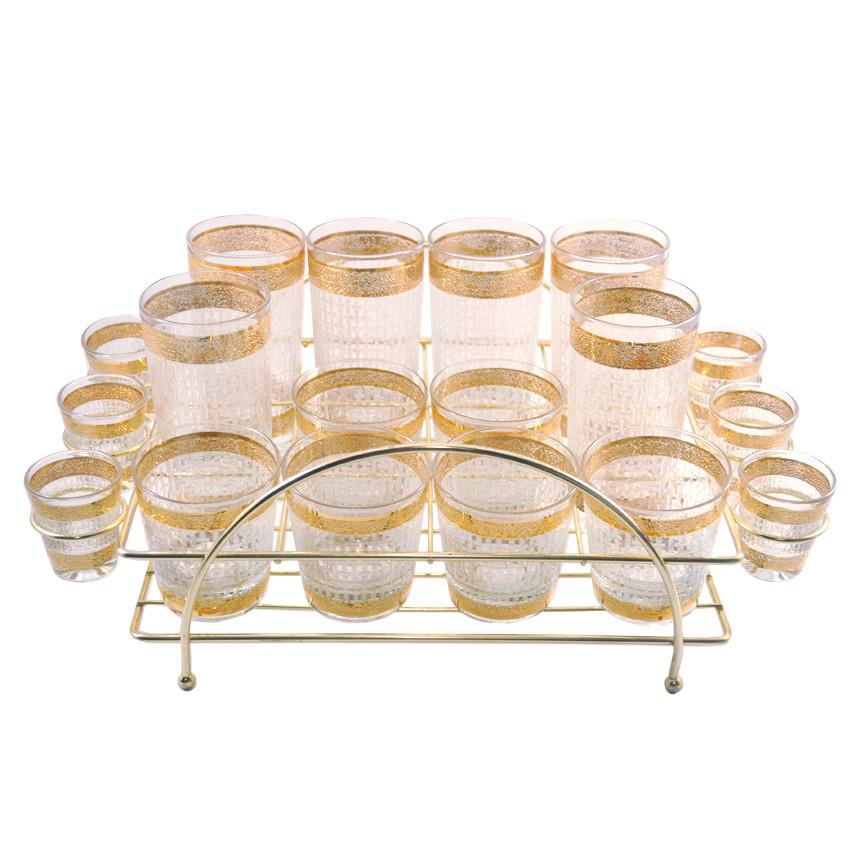 Starlyte Gold & Frosted Weave Caddy Set, The Hour
