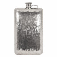 Evans Tall Hammered Silver Plate Flask | The Hour Shop Vintage