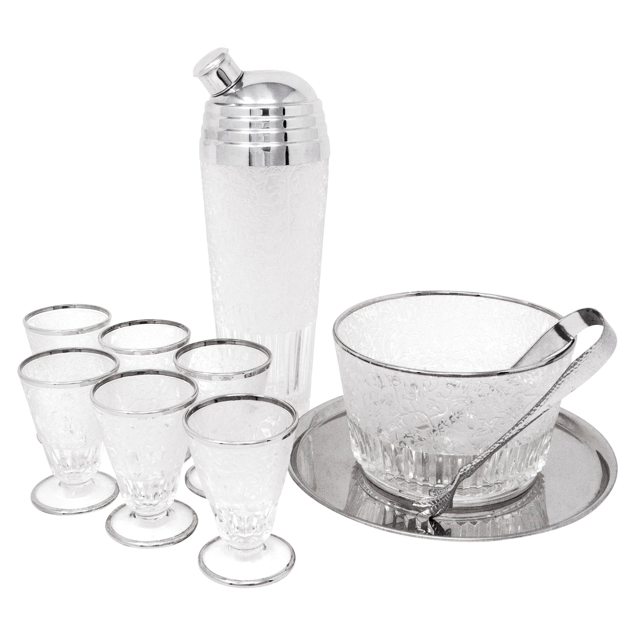 Vintage Paden City Spring Orchard Cocktail Set | The Hour Shop