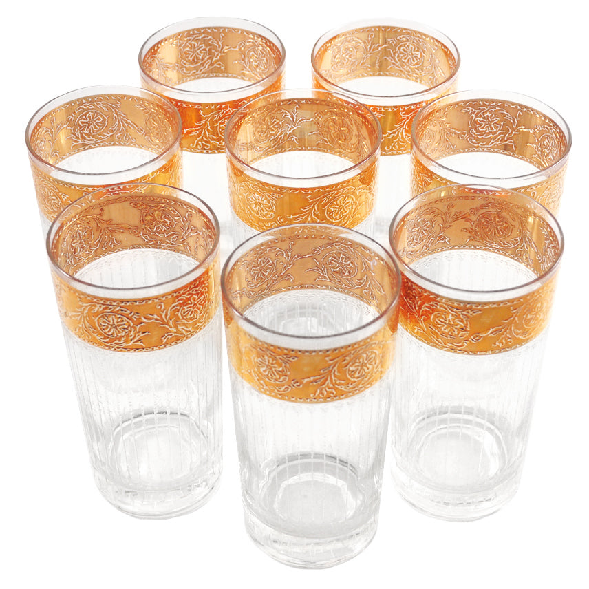 Vintage Culver Tyrol Gold Band Collins Glasses | The Hour Shop