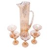 Vintage Gold & White Splatter Cocktail Pitcher Set Top | The Hour Shop