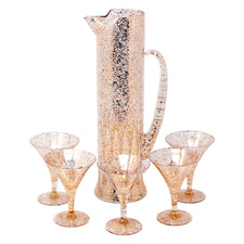 Vintage Gold & White Splatter Cocktail Pitcher Set | The Hour Shop