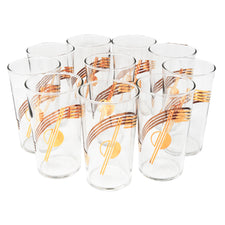Vintage Gold Swirl Cocktail Tumblers | The Hour Shop