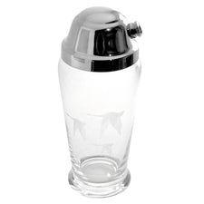 Etched Geese Cocktail Shaker