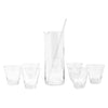 Vintage Slanted Dashes Cocktail Pitcher Set Front | The Hour Shop