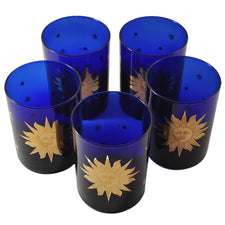 Culver Celestial Cobalt Blue Rocks Glasses, The Hour