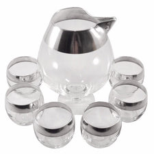 Vintage Dorothy Thorpe Sterling Band Cocktail Set | The Hour