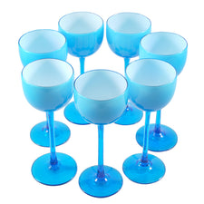 Carlo Moretti Light Blue Cocktail Glasses