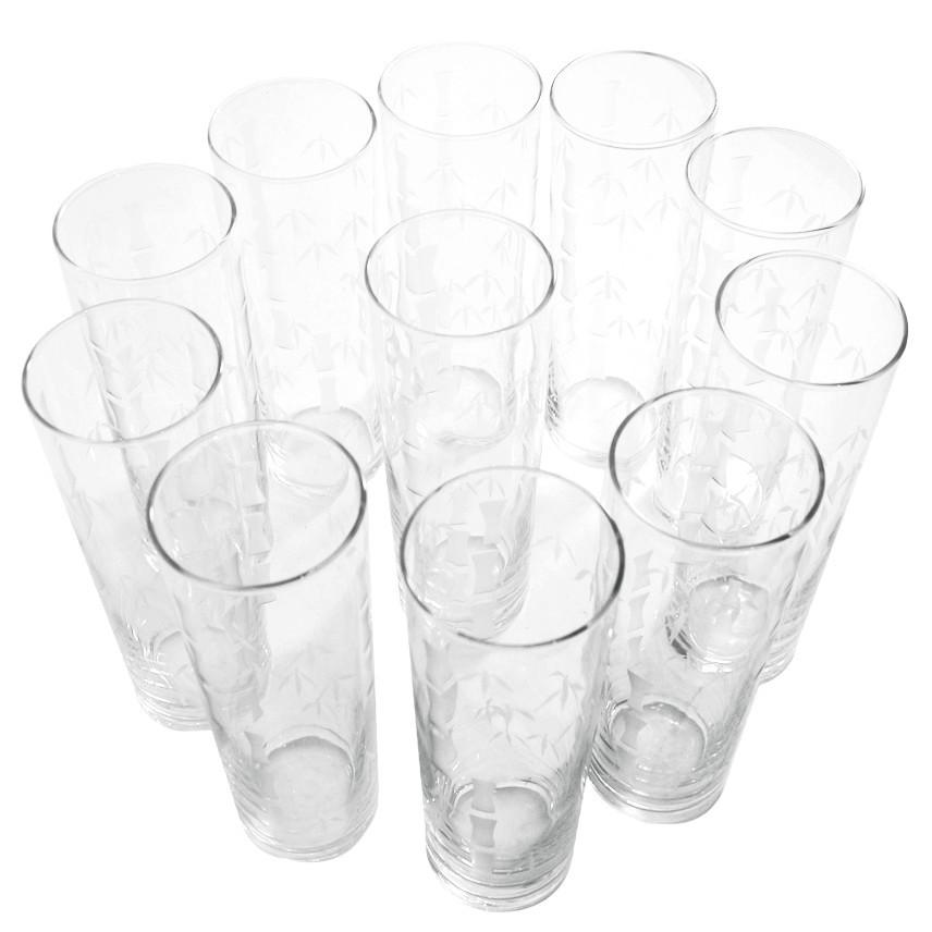 Vintage Libbey Etched Bamboo Collins Glasses, The Hour