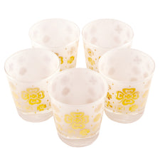 Fred Press Gold Clovers Rocks Glasses