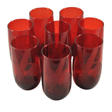 Anchor Hocking Ruby Red Bamboo Tumblers, The Hour