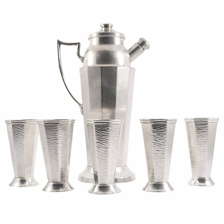 Vintage Art Deco Silverplated Shaker Set, The Hour