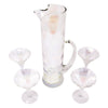 Vintage Draping Iridescent Empire Cocktail Pitcher Set Top | The Hour Shop