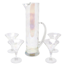 Vintage Draping Iridescent Empire Cocktail Pitcher Set | The Hour Shop