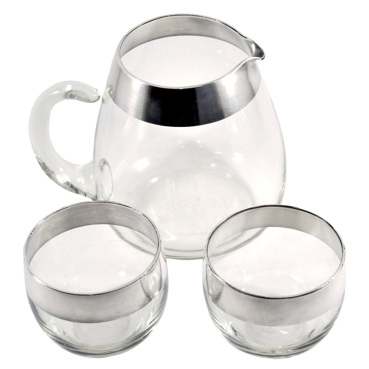 Vintage Dorothy Thorpe 3 Piece Cocktail Pitcher Set, The Hour