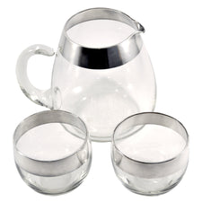 Vintage Sterling D. Thorpe 3 Piece Pitcher Set, The Hour