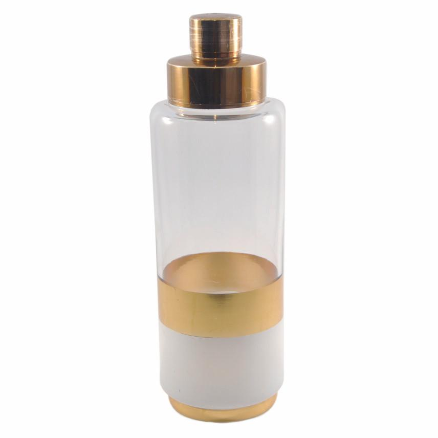 Art Deco Gold & White Cocktail Shaker | The Hour Vintage