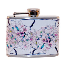 Fast Snail Cherry Blossom Stainless Flask, The Hour Shop Barware