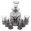 Vintage Holmegaard Handblown Smoke Glass Decanter Set Top | The Hour Shop
