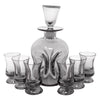 Vintage Holmegaard Handblown Smoke Glass Decanter Set | The Hour Shop