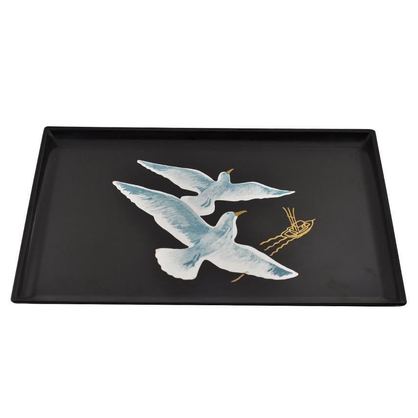 Vintage Couroc Seagulls & Boat Tray, The Hour Shop