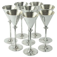 Hammered Silver Plated Cocktail Stems | The Hour Shop Vintage
