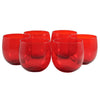 Ruby Red Roly Poly Glasses, The Hour Shop Vintage