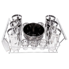 Vintage Mercury Ovals Ice Bucket Glass Caddy Set | The Hour