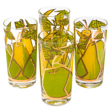 Vintage Fred Press Apples & Pears Collins Glasses | The Hour Shop