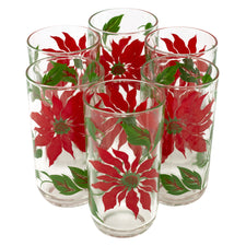 Vintage Red Poinsettias Tumblers | The Hour