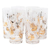 Fred Press White and Gold Rose Collins Glasses Front | The Hour Shop