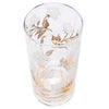 Fred Press White and Gold Rose Collins Glasses Pattern | The Hour Shop