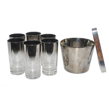 Mercury Fade Ice Bucket Set, The Hour Shop Vintage Barware