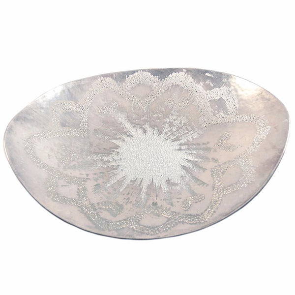 Vintage Dorothy Thorpe Atomic Burst Glass Tray, The Hour