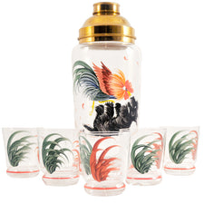 Vintage Rooster & Scotty Dog Cocktail Shaker Set | The Hour Shop