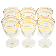 Vintage Russian Gold Rings Cordial Glasses | The Hour Shop