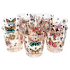 Georges Briard Multi Color Butterfly Rocks Glasses