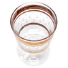 Vintage Brushed Gold Band Applied Glass Raindrops Single Cocktail Glass Top View | The Hour Shop